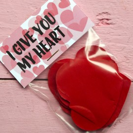 "Confetti de corazones ""I give you my heart"""