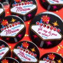 Chapas personalizadas para despedidas Las Vegas
